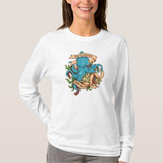 Krakenモンスターのタコの上昇 Tシャツ