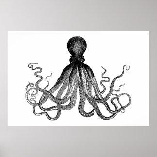 Kraken -黒く巨大なタコ(特大) ポスター