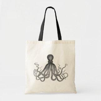 Kraken -黒く巨大なタコ/Cthulu トートバッグ