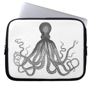 Kraken -黒く巨大なタコ/Cthulu ラップトップスリーブ