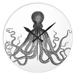 Kraken -黒く巨大なタコ/Cthulu ラージ壁時計