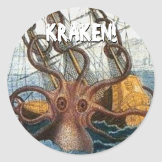 Kraken Steampunkのタコのヴィンテージ ラウンドシール
