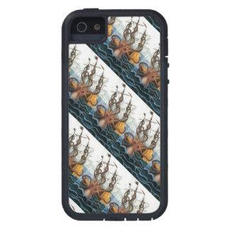 Kraken Steampunkのヴィンテージの巨大なタコパターン iPhone SE/5/5s ケース