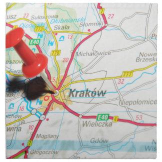 Kraków、クラクフ、ポーランドのCracow ナプキンクロス