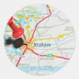 Kraków、クラクフ、ポーランドのCracow ラウンドシール
