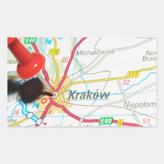Kraków、クラクフ、ポーランドのCracow 長方形シール