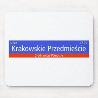 Krakowskie Przedmiescie、ワルシャワのポーランドの通りのSIG マウスパッド