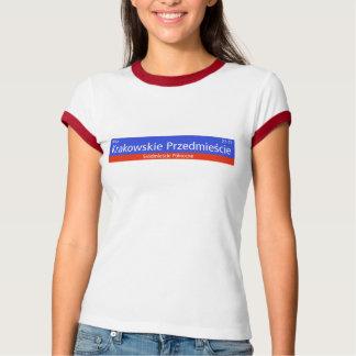 Krakowskie Przedmiescie、ワルシャワのポーランドの通りのSIG Tシャツ