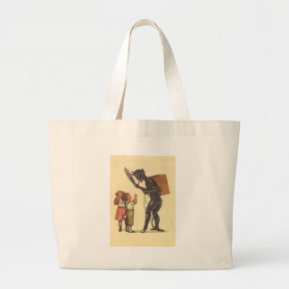 Krampusとの弁護 ラージトートバッグ
