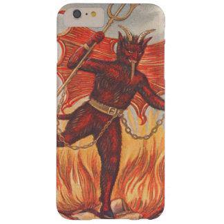Krampusによっては三叉の矛の干し草用フォークの鎖の火が飛びます スキニー iPhone 6 Plus ケース