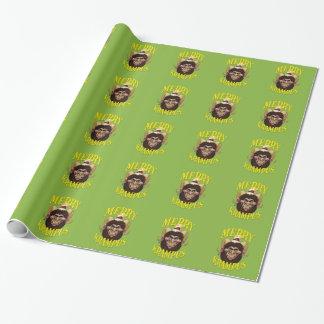 Krampusのメリーなクリスマスの包装紙 ラッピングペーパー