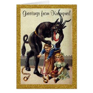 Krampusの休日の挨拶状からの挨拶 カード