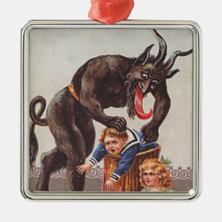 Krampusの誘拐の子供 メタルオーナメント