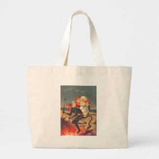 Krampusの誘拐の子供 ラージトートバッグ