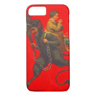 Krampusの赤い誘拐の祈る男の子 iPhone 8/7ケース