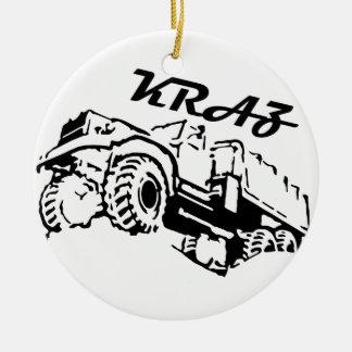 Kraz -ソビエトロシアのなトラック セラミックオーナメント