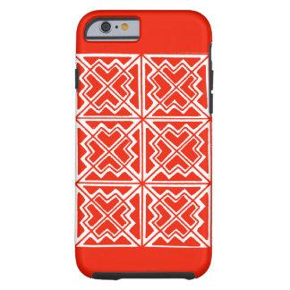 kRed及び白く幾何学的な芸術のデザインIの電話6箱 ケース