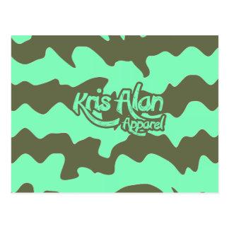 Krisアランの服装キャンデーの緑 ポストカード