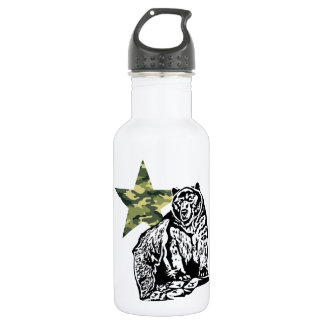 Krisアランの灰色グマのカムフラージュ ウォーターボトル