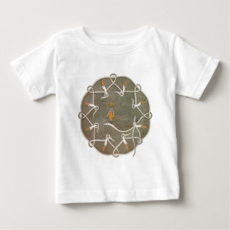 Krishnaおよび蛇Kaliya ベビーTシャツ