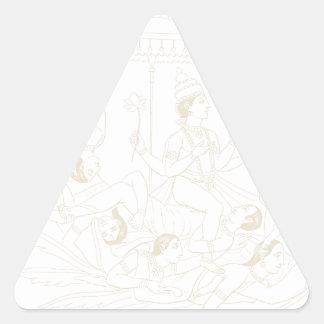KrishnaおよびGopia 三角形シール