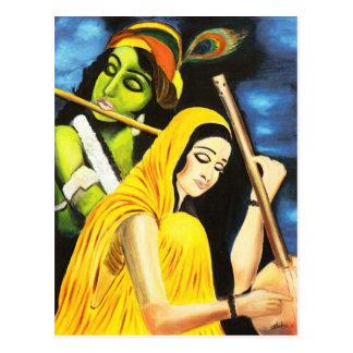 KrishnaおよびMeera ポストカード