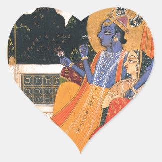 KrishnaおよびRadha ハートシール