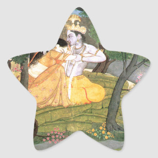 KrishnaおよびRadha 星シール