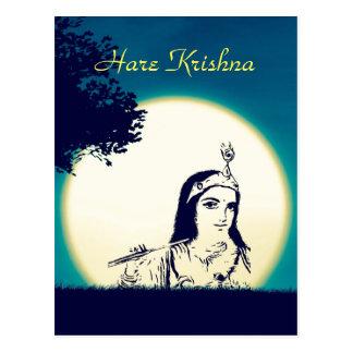 Krishnaの視野の郵便はがき ポストカード