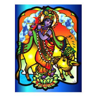 Krishnaの郵便はがき ポストカード
