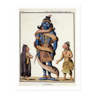 Krishnaは「VoyaからKaliyaの蛇によって、絞りました ポストカード