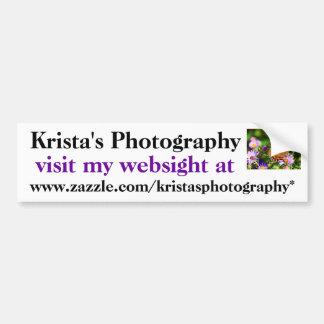 Kristaの写真撮影のバンパーステッカー# 30 バンパーステッカー