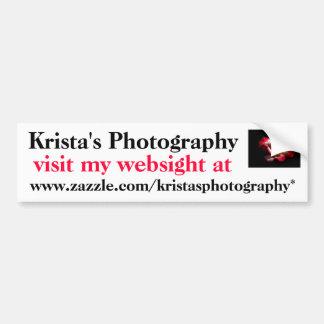 KristasPhotographyのバンパーステッカー#6 6060 バンパーステッカー