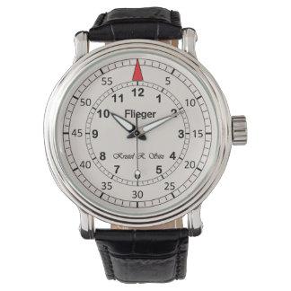 KristelのクラシックなFliegerライト 腕時計
