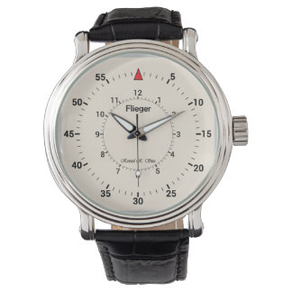 Kristelの基本的なFliegerライト 腕時計