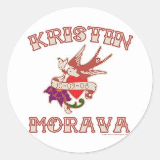 Kristin D. Morava 丸型シール