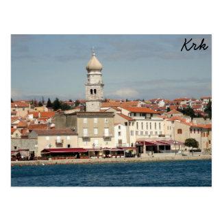 Krk、クロアチア ポストカード
