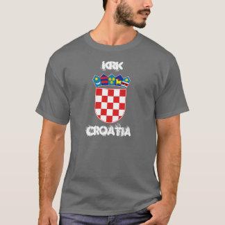 Krk、紋章付き外衣が付いているクロアチア Tシャツ