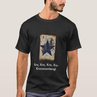 Kronmantengの開いたGuttaのロゴのティー Tシャツ