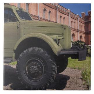 Kronverkskyの島、ミサイル発射機博物館、トラック タイル