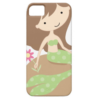 KRWのかわいい緑の人魚 iPhone SE/5/5s ケース