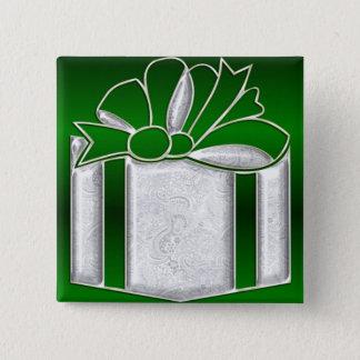 KRWのエレガントな現在の休日Pin 5.1cm 正方形バッジ