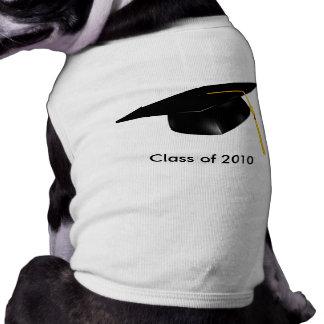 KRWのカスタムな文字の卒業ペットワイシャツ ペット服