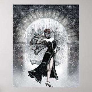KRWのゴシック様式冬のFaeryのファンタジーの芸術 ポスター