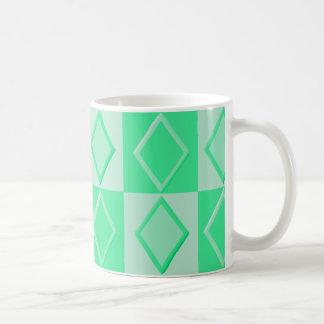 KRWのダイヤモンドの軽い音のマグ-ミント コーヒーマグカップ