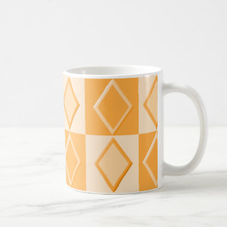 KRWのダイヤモンドパターンマグ-蜜柑 コーヒーマグカップ