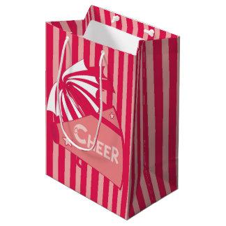 KRWのピンクのチアリーダーのパーティのギフトバッグ-媒体 ミディアムペーパーバッグ