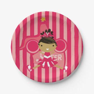 KRWのピンクのチアリーダーのパーティの紙皿 ペーパープレート