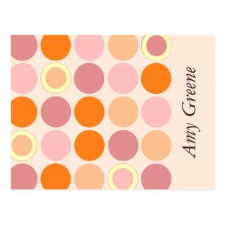 KRWのモダンはバルミツワーの応答カードに斑点を付けます ポストカード