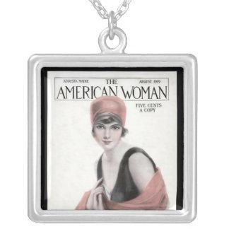 KRWのヴィンテージのアメリカの女性Magの銀製のネックレス シルバープレートネックレス